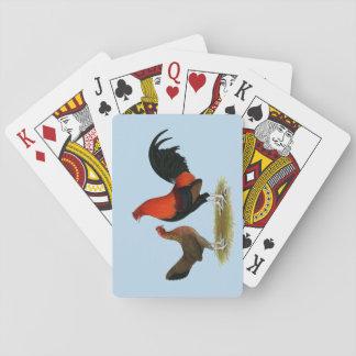 Alte englische Spiel-Zwerghühner:  BB Rot-Paare Spielkarten