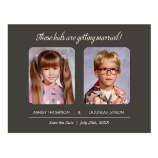 Alte Foto-Save the Date Postkarte
