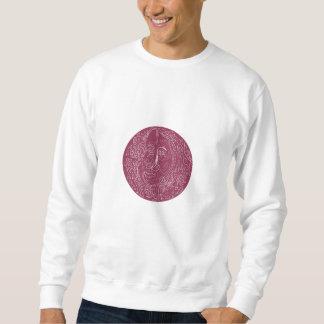 Alte Frauen-Gesichts-Kreis-Mandala Sweatshirt