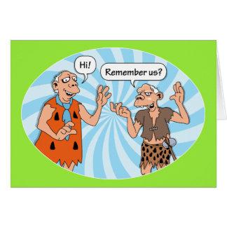 Alte Freunde erinnern sich an Ihren Geburtstag Karte