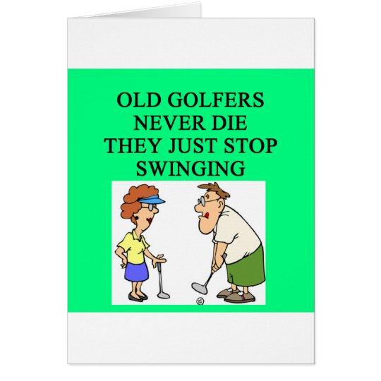 alte Golfspieler die nie Grußkarte