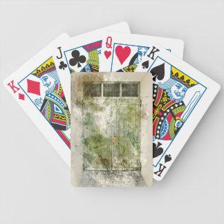 Alte grüne Tür Bicycle Spielkarten
