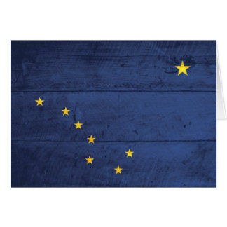 Alte hölzerne Alaska-Flagge Karte