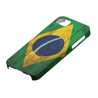 Alte hölzerne Brasilien-Flagge iPhone 5 Hülle
