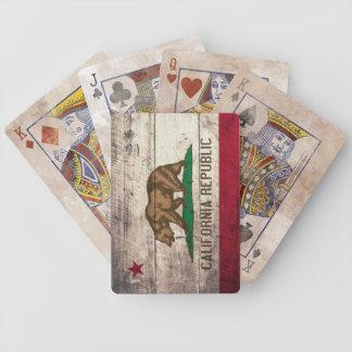 Alte hölzerne Kalifornien-Flaggen-Spielkarten Spielkarten
