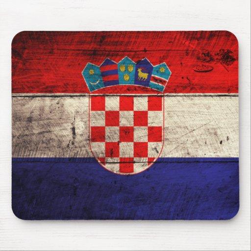 Alte hölzerne Kroatien-Flagge Mauspad