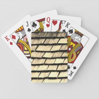 Alte hölzerne Planken-Beschaffenheit Spielkarten