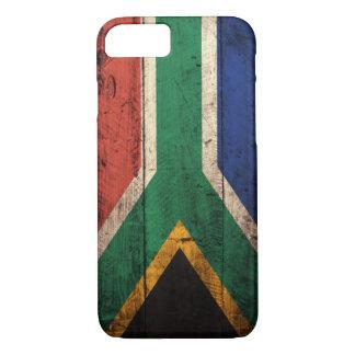 Alte hölzerne Südafrika-Flagge iPhone 8/7 Hülle