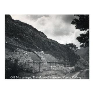 Alte irische thatched Hütten, Galway Irland Postkarte