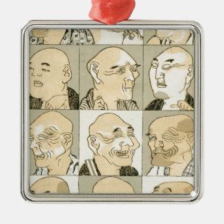 Alte japanische Männer Silbernes Ornament