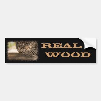 Alte Kabinen-Holz-Beschaffenheiten Autoaufkleber