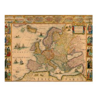 Alte Karte von Europa
