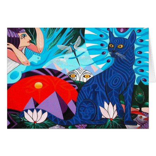 Alte Katze durch Gregory Gallo Grußkarte