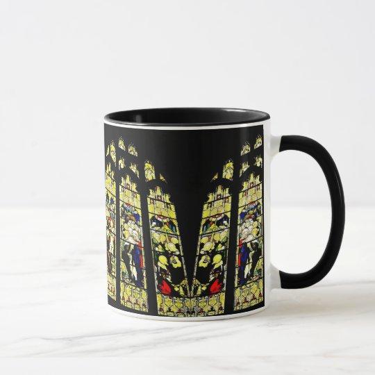 Alte Kirchenfenster-Tasse des befleckten Glases Tasse