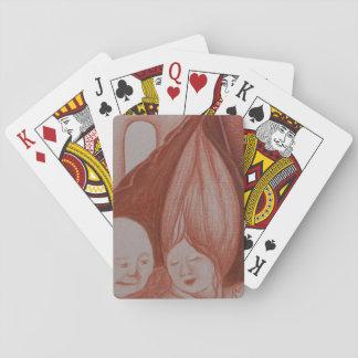 Alte Komfort-Kunst-Plattform der Spielkarten