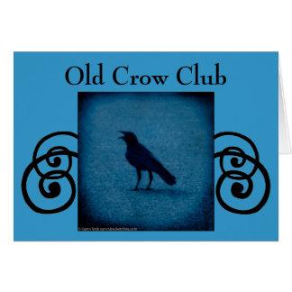 Alte Krähen-Vereineinladungs- oder -grußkarte Karte