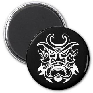 Alte Maske 4 Runder Magnet 5,1 Cm