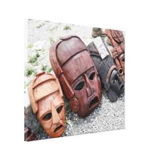 Alte Masken - dekorative Kultur Mexikos Leinwanddruck