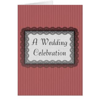 Alte Mode-Hochzeit Karte