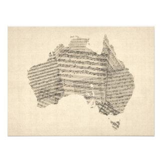 Alte Notenen-Karte von Australien-Karte Photo