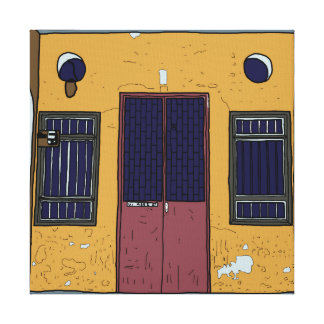 Alte Penang-Tür #6 Leinwanddruck