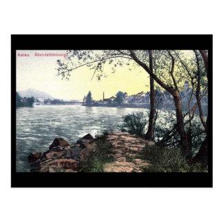 Alte Postkarte - Aarau, die Schweiz
