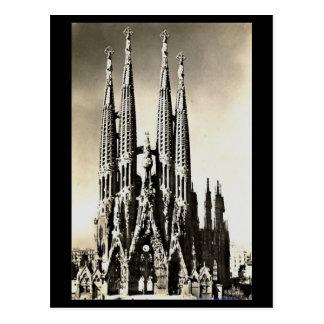 Alte Postkarte - Barcelona, Sagrada Familia