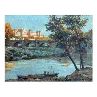 Alte Postkarte - Carcassonne, Aude, Frankreich