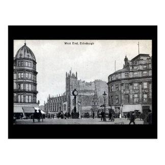 Alte Postkarte, Edinburgh, West End Postkarte