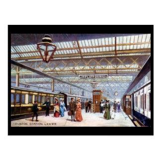 Alte Postkarte - Euston Station, London