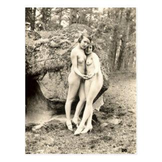 Alte Postkarte, Freundinnen Postkarte