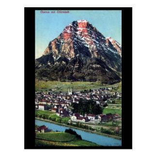 Alte Postkarte - Glarus, die Schweiz