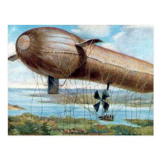 Alte Postkarte - Motorantriebskriegs-Luftschiff