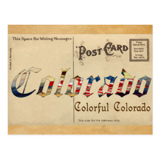 Alte Postkarte Vintager Blick-Colorados
