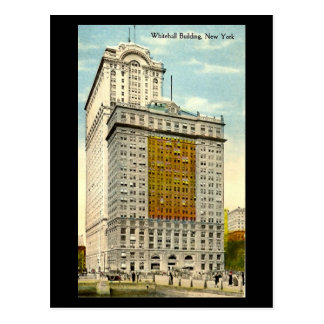 Alte Postkarte, Whitehall-Gebäude, New York City Postkarte
