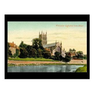 Alte Postkarte - Worcester-Kathedrale