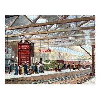 Alte Postkarten - Waterloo-Station, London