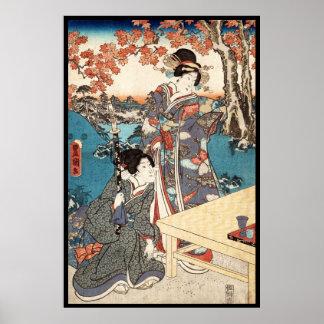 Alte Rolle coolen japanischen Vintagen ukiyo-e Poster