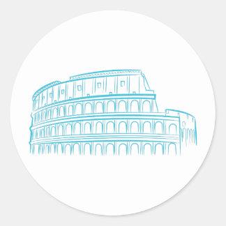 Alte römische Colosseum Sehenswürdigkeit Runder Aufkleber