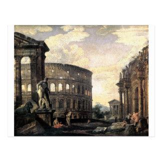 Alte römische Ruinen durch Giovanni Paolo Panini Postkarte
