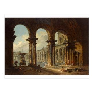 Alte Ruinen verwendet als allgemeine Bäder Hubert Postkarte