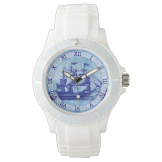 Alte Schiffs-und Karten-blaue Seeseeleute Armbanduhr