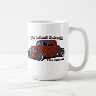 Alte Schule Hotrod Kaffeetasse