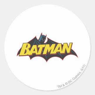Alte Schullogo Batmans   Runder Aufkleber