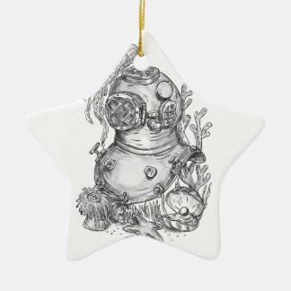 Alte Schultauchsturzhelm-Tätowierung Keramik Ornament
