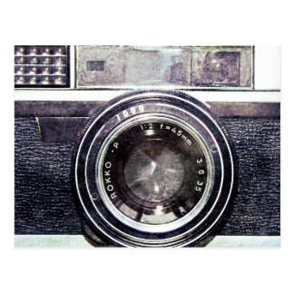 Alte schwarze Kamera Postkarte