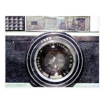 Alte schwarze Kamera Postkarten