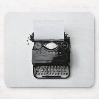 alte schwarze klassische Vintage Schreibmaschine Mousepads