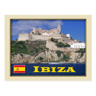 Alte Stadt von Ibiza, die Balearischen Inseln, Postkarte