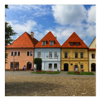 Alte Stadthäuser in Bardejov, Slowakei Acryl Wandkunst